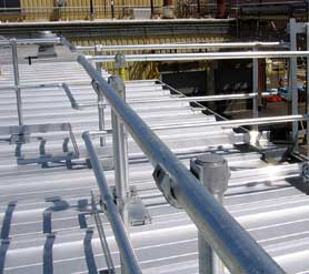 Guardrail for Metal Roofs