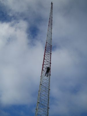 Climbing-communications-tower