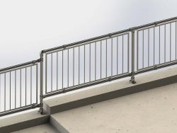 Groundbased-Guardrail-with-Infill-Panels